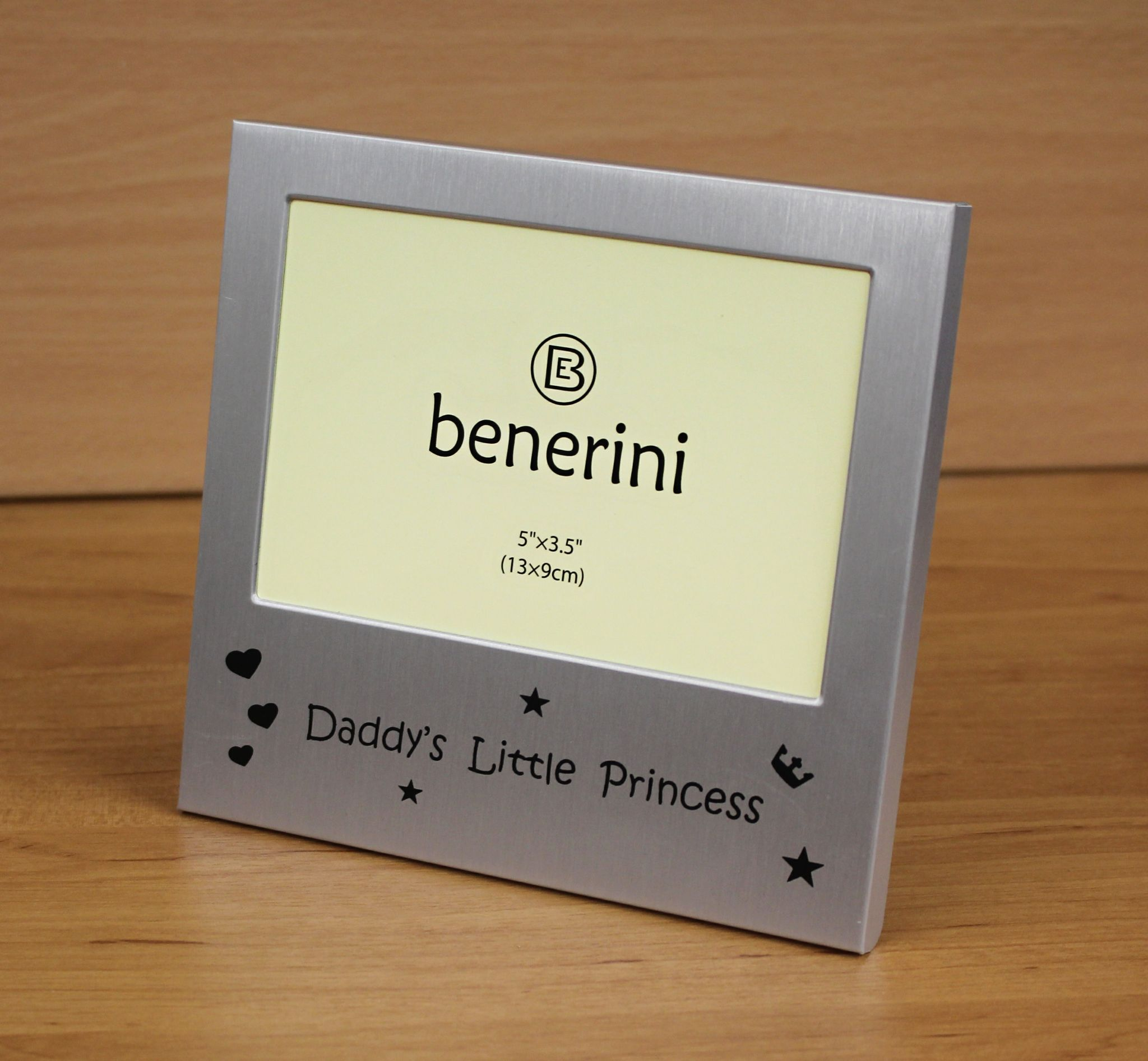 Daddys Little Princess Photo Frame Size 5 X 3 Inches Brushed Aluminium Satin Silver Colour